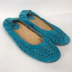 EARTH Sz 10 B Suede Flats Women's Shoes